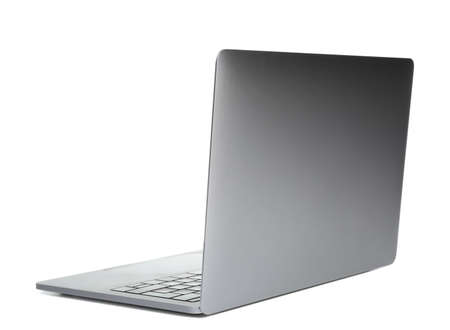 Laptop on white background. Modern technology