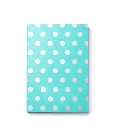 Colorful notebook on white background. School stationery 免版税图像