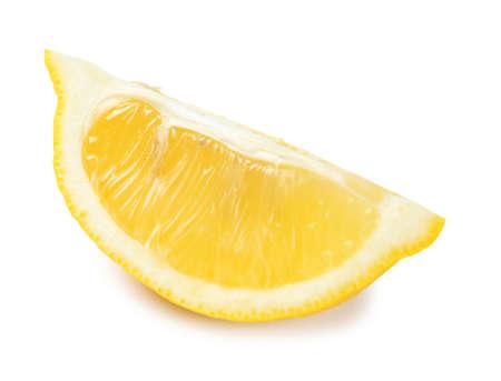 Slice of ripe lemon on white background 写真素材 - 106515498