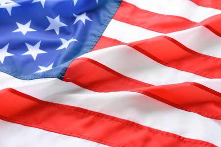 Bandera americana como fondo, primer plano. símbolo nacional