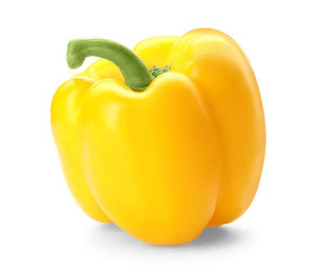 Raw ripe paprika pepper on white background