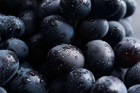 Bunch of fresh ripe juicy grapes as background. Closeup view