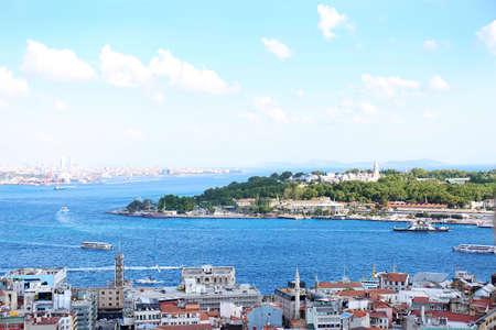 ISTANBUL, TURKEY - AUGUST 06, 2018: Picturesque view of city