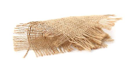 Sustainable hemp fabric on white background Stock Photo