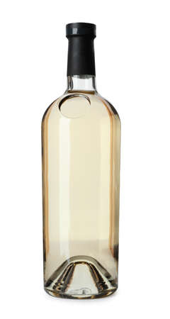 Bottle of expensive wine on white background 写真素材