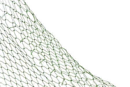Fishing net on white background, closeup view Stock fotó
