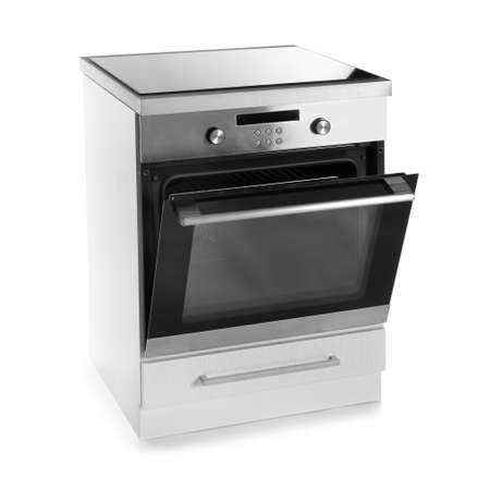 Modern oven isolated on white. Kitchen appliance