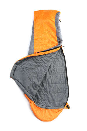 Sleeping bag on white background. Camping equipment 版權商用圖片