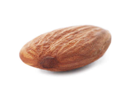 Organic almond nut on white background. Healthy snack