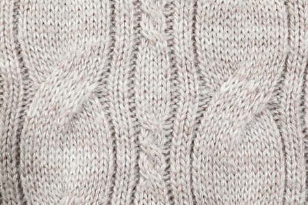 Texture of cozy warm sweater as background, closeup Banque d'images