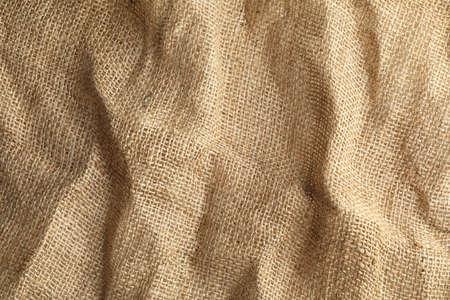 Paño de cáñamo natural sostenible como fondo. Textura de la tela