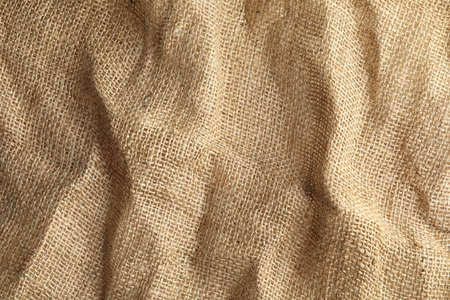 Sustainable natural hemp cloth as background. Fabric texture 免版税图像 - 111464294