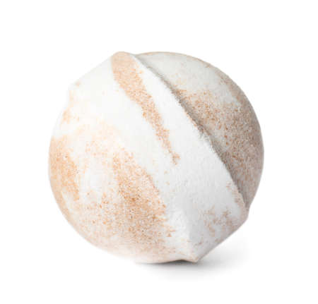Bath bomb on white background. Spa product