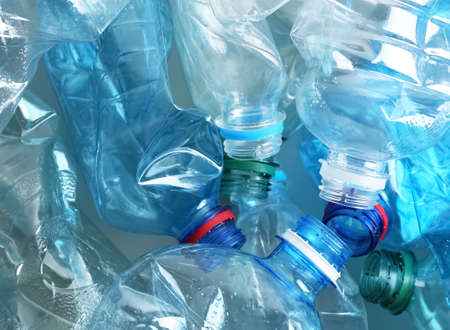 Many plastic bottles as background, closeup. Recycle concept Stock Photo