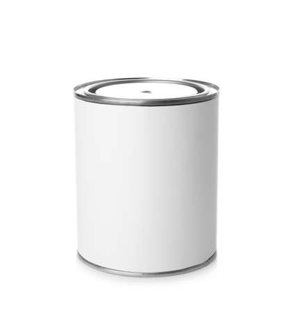 Paint can on white background. Mockup for design Banco de Imagens