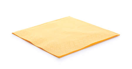 Clean paper napkin on white background. Personal hygiene
