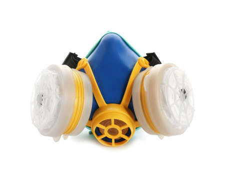 Respirator mask on white background. Safety equipment