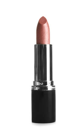 Bright lipstick on white background. Professional makeup product Stock Photo