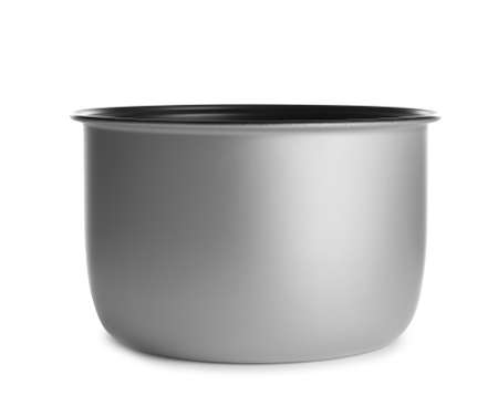 Modern multi cooker inner pot isolated on white