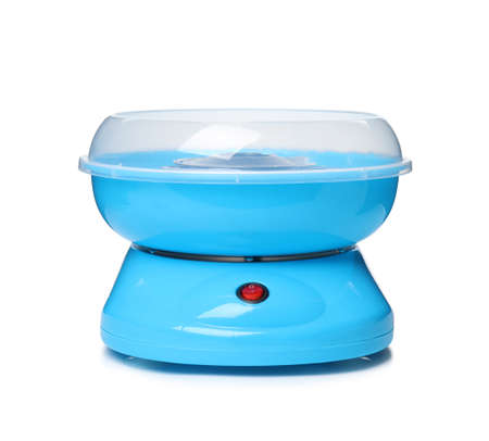 Portable candy cotton machine on white background
