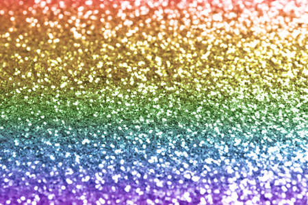Composition of sparkling rainbow glitter as background Reklamní fotografie