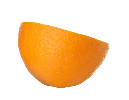 Half of ripe orange isolated on white Banque d'images - 118088837