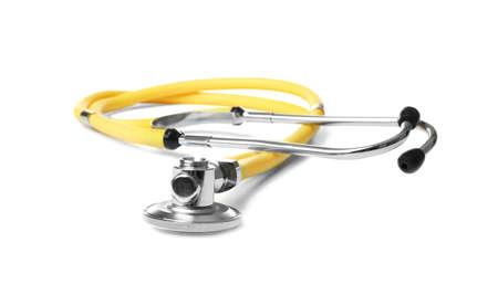 Stethoscope on white background. Medical students stuff Reklamní fotografie
