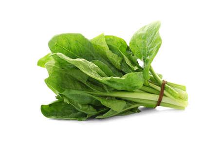 Bündel frischer Spinat isoliert auf weißem Hintergrund