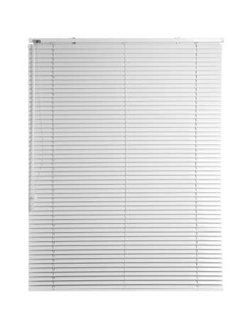 New modern window blinds on white background Фото со стока