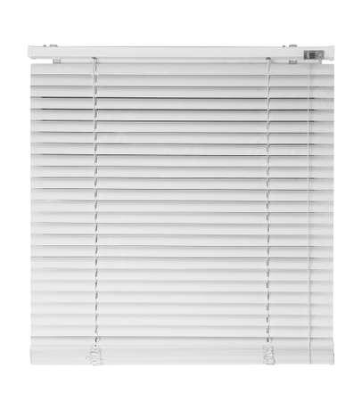 New modern window blinds on white background Stockfoto