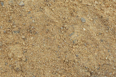 Textured sandy soil surface as background, top view