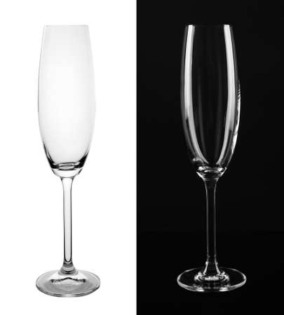 Empty glasses on white and black background Banco de Imagens - 124655987