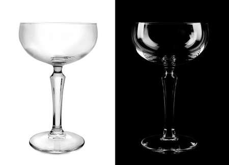 Empty glasses on white and black background Banco de Imagens - 124665099