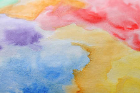 Abstract colorful background, closeup. Painted sheet of paper