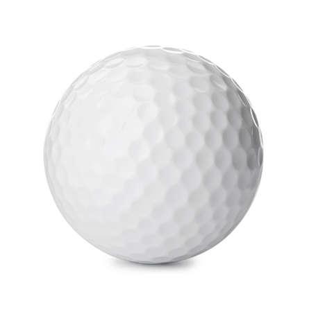 Golf ball on white background. Sport equipment