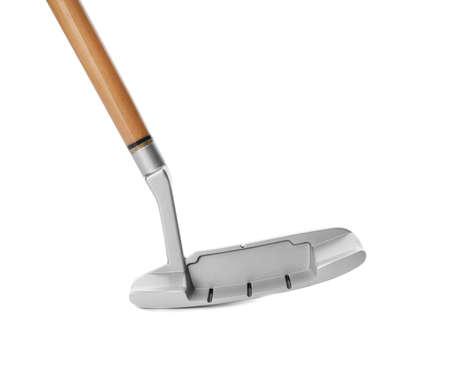 Golf club on white background. Sport equipment