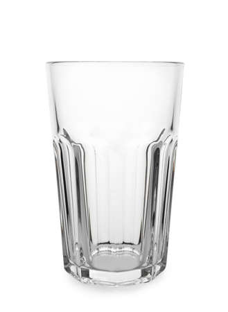 Clean empty high glass isolated on white