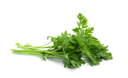 Bunch of fresh parsley isolated on white