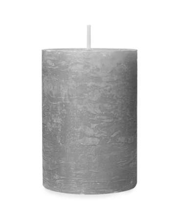 One color wax candle on white background 写真素材