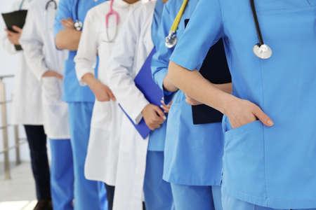 Team of medical workers, closeup. Unity concept Stock fotó