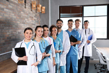 Team of medical workers in hospital. Unity concept Stock fotó