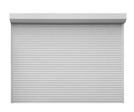 Modern garage roller shutter door on white background 版權商用圖片