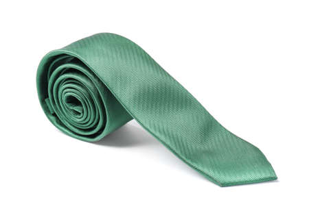 Stylish color male necktie isolated on white