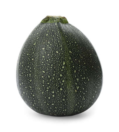 Fresh ripe dark green zucchini isolated on white 免版税图像