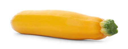 Fresh ripe yellow zucchini squash isolated on white Stock Photo