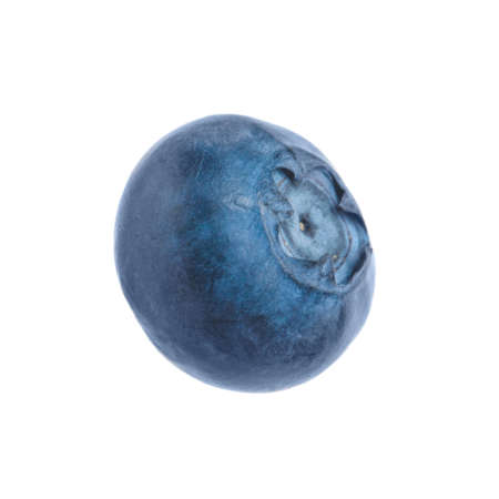 Fresh raw ripe blueberry isolated on white Фото со стока
