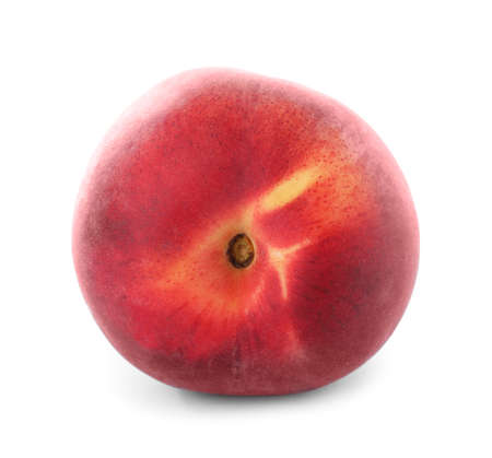 Delicious ripe sweet peach isolated on white