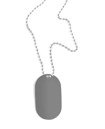 Blank military ID tag isolated on white Banque d'images - 127899606