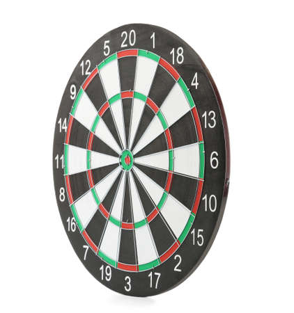 New empty dart board isolated on white 写真素材