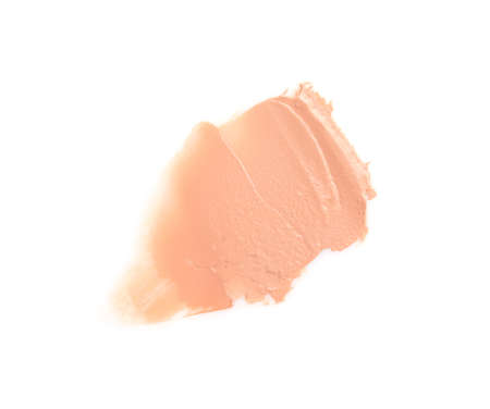 Sample of liquid foundation foundation on white background, top view Zdjęcie Seryjne